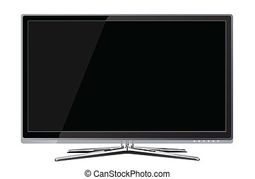 Flat screen tv lcd, plasma realistic illustration