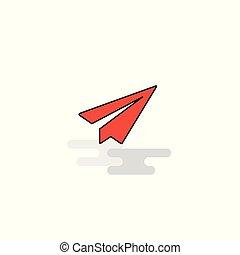Flat Send button Icon. Vector