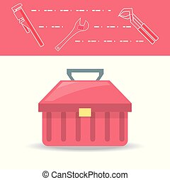 flat set icon tools plumbing