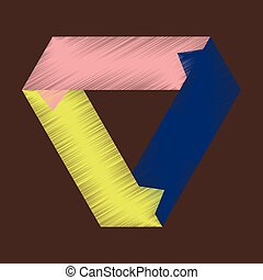 flat shading style icon Arrows