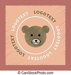 flat shading style icon bear logo
