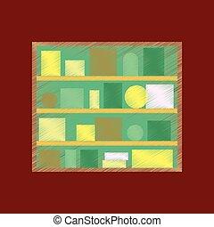 flat shading style icon Bookshelf