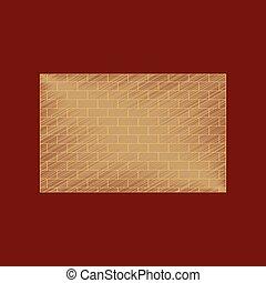flat shading style icon Brick wall