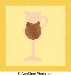 flat shading style icon coffee glass