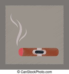 flat shading style icon cuba cigar