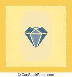 flat shading style icon diamond symbol