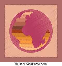 flat shading style icon Earth gays symbol