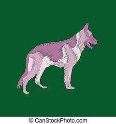 flat shading style icon German Shepherd