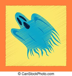 flat shading style icon ghost