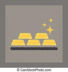 flat shading style icon gold bullion - flat shading style ...