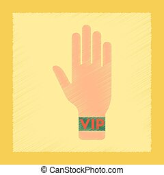 flat shading style icon hand VIP
