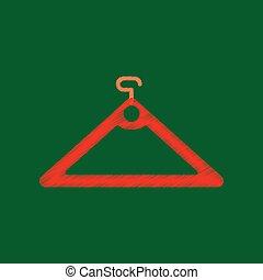 flat shading style icon hanger