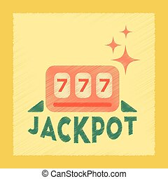 flat shading style icon jackpot Lucky seven