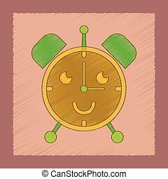 flat shading style icon Kids alarm clock
