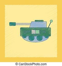 flat shading style icon Kids tank