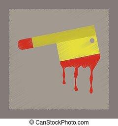flat shading style icon knife blood