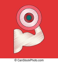 flat shading style icon Logo bicep