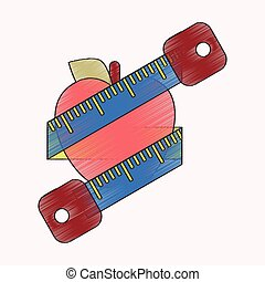 flat shading style icon Logo diet