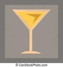 flat shading style icon martini glass