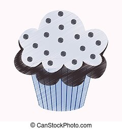 flat shading style icon Muffin