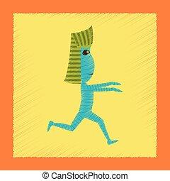 flat shading style icon mummy halloween monster