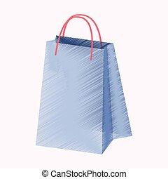 flat shading style icon paper bag
