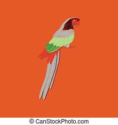 flat shading style icon parrot