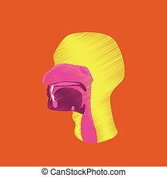 flat shading style icon pharynx