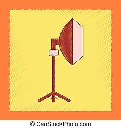 flat shading style icon professional lighting