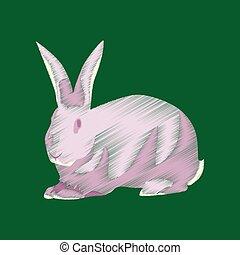 flat shading style icon rabbit