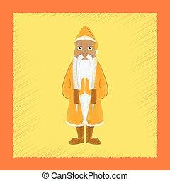 flat shading style icon Santa Claus