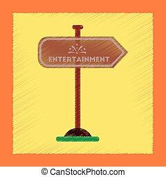 flat shading style icon sign entertainment