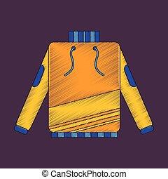 flat shading style icon skiing sweater