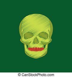 flat shading style icon skull