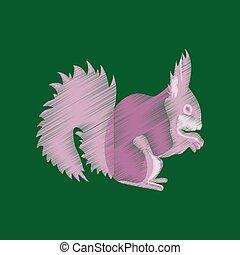 flat shading style icon squirrel