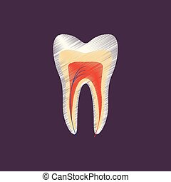 flat shading style icon tooth