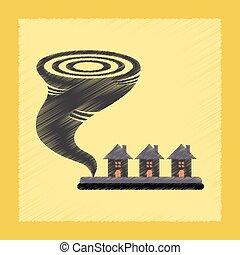 flat shading style icon tornado