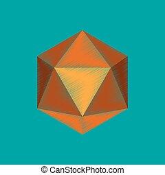 flat shading style icon virus