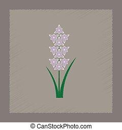 flat shading style illustration gladiolus - flat shading...