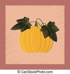 flat shading style Illustrations plant Cucurbita
