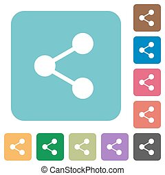 Flat share icons