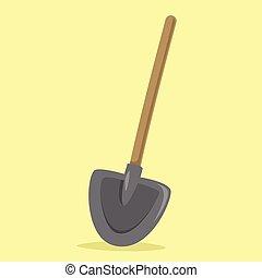 Flat Shovel Vector Illustration