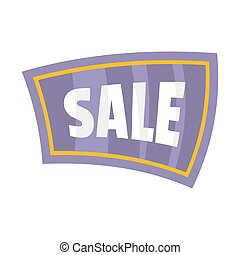 Flat signboard with text sale for your design vector illustration isolated on white background