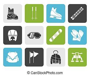 snowboard equipment icons