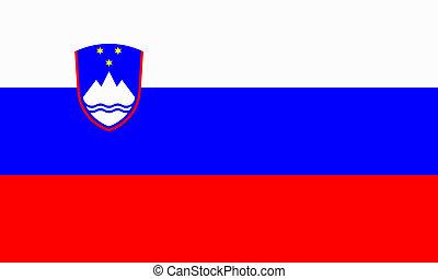 flat slovenian flag