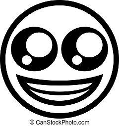 flat smile symbol design