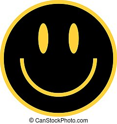 Flat Smiley Happy Smiling Face