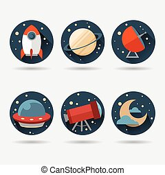Flat Space Icons.