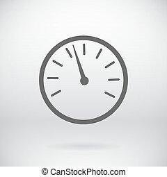 Flat Speedometer Sign Vector Speed Device Symbol Background...