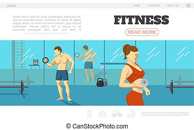 Flat Sport And Fitness Webpage Template